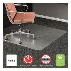 RollaMat Frequent Use Chair Mat for Medium Pile Carpet, 45 x 53, Rectangular, CR