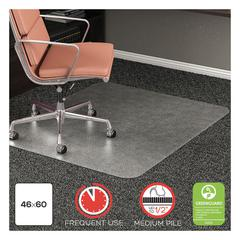 RollaMat Frequent Use Chair Mat, Med Pile Carpet, Roll, 46 x 60, Rectangle, CR