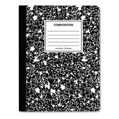 Quad Rule Composition Book., Quadrille Rule, 7.5 x 9.75, 1 Subject, Black, 6/PK