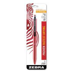 Sarasa Gel Retractable Pen, Fine, 0.7 mm, Black Ink, Rose Gold Barrel
