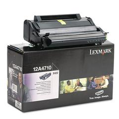 Lexmark 12A4710 Toner, 6000 Page-Yield, Black