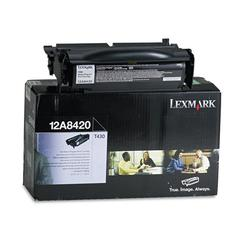 Lexmark 12A8420 Toner, 6000 Page-Yield, Black
