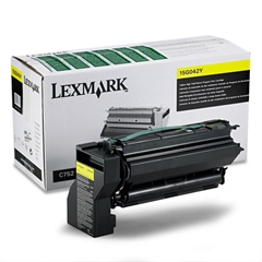 Lexmark 15G042Y High-Yield Toner, 15000 Page-Yield, Yellow
