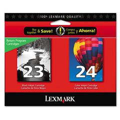 18C1571 Ink, 2/Pack, Black; Tri-Color