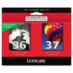 Lexmark 18C2229 (36; 37) Ink, 175 Page-Yield, 2/Pack, Black; Color