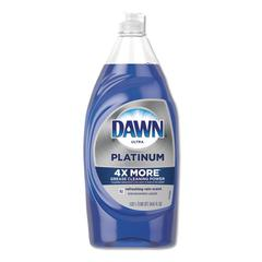 Ultra Platinum Dishwashing Liquid, Refreshing Rain, 34.6 oz Squeeze Bottle
