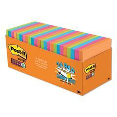 Pads in Rio de Janeiro Colors, 3 x 3, 70-Sheet Pads, 24/Pack