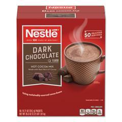 Hot Cocoa Mix, Dark Chocolate, 0.71 oz, 50/Box