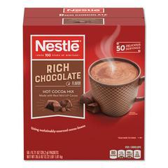 Hot Cocoa Mix, Rich Chocolate, 0.71 oz Packets, 50/Box, 6 Box/Carton