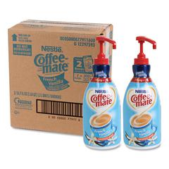 Liquid Coffee Creamer, French Vanilla, 1.5 Liter Pump Bottle, 2/Carton