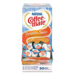 Liquid Coffee Creamer, Pumpkin Spice, 0.38 oz Mini Cups, 50/Box