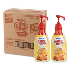 Liquid Coffee Creamer, Hazelnut, 1.5 Liter Pump Bottle, 2/Carton