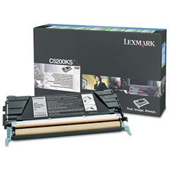 Lexmark C5200KS Toner, 1500 Page-Yield, Black