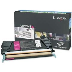 Lexmark C5200MS Toner, 1500 Page-Yield, Magenta