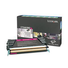 Lexmark C734A1MG Toner, Return Program, 6000 Page-Yield, Magenta