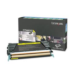 Lexmark C734A1YG Toner, Return Program, 6000 Page-Yield, Yellow
