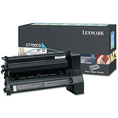 Lexmark C7700CS Toner, 6000 Page-Yield, Cyan