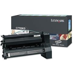 Lexmark C7700KS Toner, 6000 Page-Yield, Black