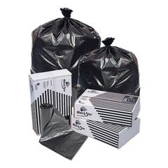 Black Star Low-Density Can Liners, 12-16 gal, 0.35mil, 24 x 32, Black, 500/CT
