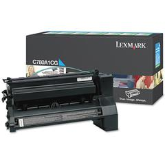 Lexmark C780A1CG Toner, 6000 Page-Yield, Cyan