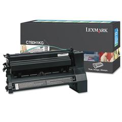 Lexmark C780H1KG High-Yield Toner, 10000 Page-Yield, Black
