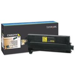 Lexmark C9202YH Toner, 14000 Page-Yield, Yellow
