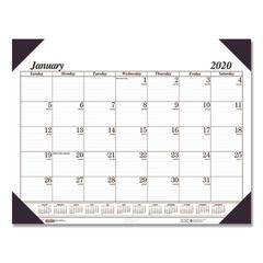 Recycled Workstation-Size One-Color Monthly Desk Pad Calendar, 18 1/2 x 13, 2020