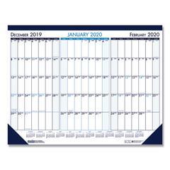 Three Month Desk Pad Calendar, 22 x 17, 2019-2021