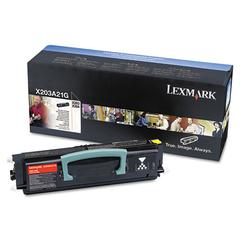 Lexmark X203A21G Toner, 2500 Page-Yield, Black