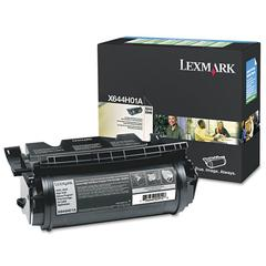 Lexmark X644H01A Extra High-Yield Toner, 32000 Page-Yield, Black