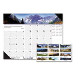 Recycled Mountains of the World Photo Monthly Desk Pad Calendar, 22 x 17, 2020