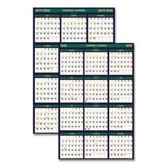 Recycled 4 Seasons Reversible Business/Academic Wall Calendar, 24x37, 2019-2020