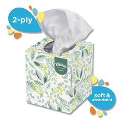 Naturals Facial Tissue, 2-Ply, White, 95 Sheets/Box, 36 Boxes/Carton