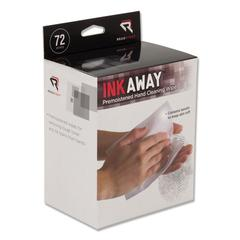 Ink Away Hand Cleaning Pads, Cloth, White, 72/Pack