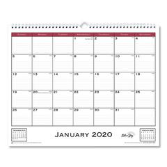Classic Red Wall Calendar, 15 x 12, 2020