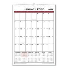 Classic Red Wall Calendar, 12 x 17, 2020