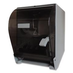 "Lever Action Roll Towel Dispenser, 11 1/4"" x 9 1/2"" x 14 3/8"", Transparent"