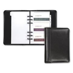 Regal Leather Business Card Binder, 120 Card Capacity, 2 x 3 1/2 Cards, Black