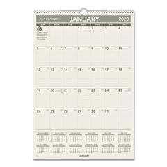 Recycled Wall Calendar, 15 1/2 x 22 3/4, 2020