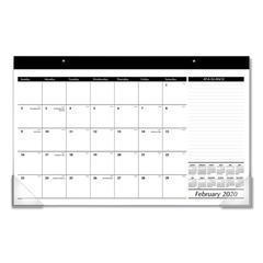 Compact Desk Pad, 17 3/4 x 10 7/8, White, 2020