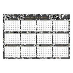 Laminated Baccara Dark Calendar, 36 x 24, 2020