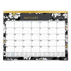 Baccara Dark Desk Pad, 22 x 17, 2020