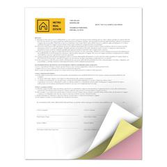 Revolution Carbonless 3-Part Paper, 8 1/2 x 11, White/Canary/Pink, 5000/CT