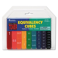 Fraction Tower Activity Set, Math Manipulatives, for Grades 1-6