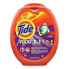 Detergent Pods, Spring Meadow, 96/Tub
