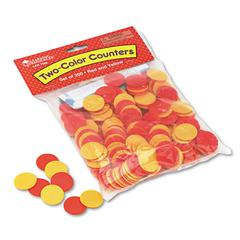 Learning Resources Two-Color Counters, Math Manipulatives, for Grades K-6, 200/Set