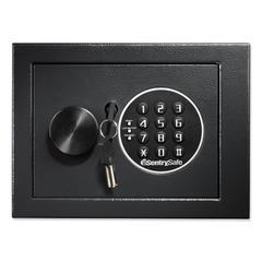 Electronic Security Safe, 0.14 ft3, 9w x 6 3/5d x 6 3/5h, Black