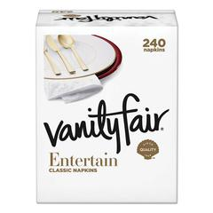 Impressions Dinner Napkins, 3-Ply, 15 x 17, White, 240/Carton