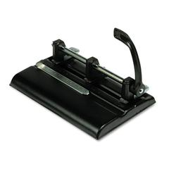 "40-Sheet Lever Action Two- to Seven-Hole Punch, 9/32"" Holes, Black"