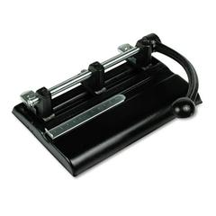 "40-Sheet Lever Action Two- to Seven-Hole Punch, 13/32"" Holes, Black"